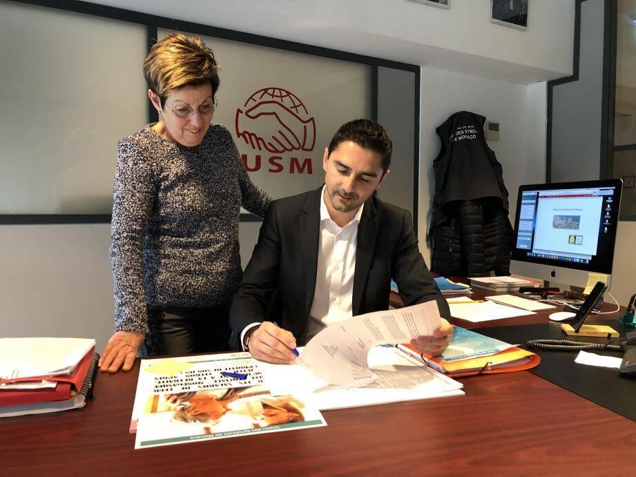 Angèle Brachetti, de l'URM, et Christophe Glasser, de l'USM, espèrent avoir trouvé une nouvelle faille pour venir en aide aux retraités frontaliers.