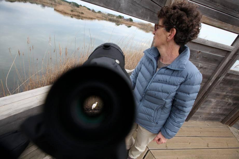 Annick Gauthier constate les dégats causés par les inondations de l'automne.