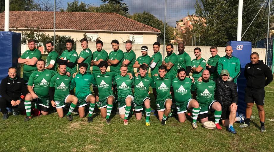 La réserve du Rugby club Draguignan en bonne position pour la qualification.