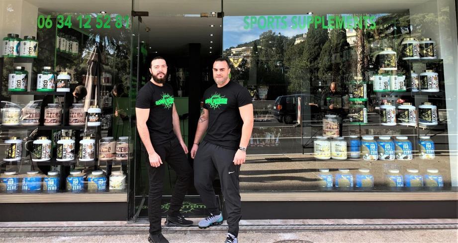 Lionel Deniz et son cousin viennent d'ouvrir une boutique de compléments alimentaires.
