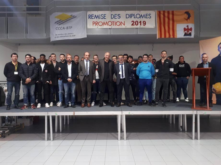 Les titulaires du CAP étaient invités au complexe Saint Exupéry par Victor Martins et son équipe pédagogique