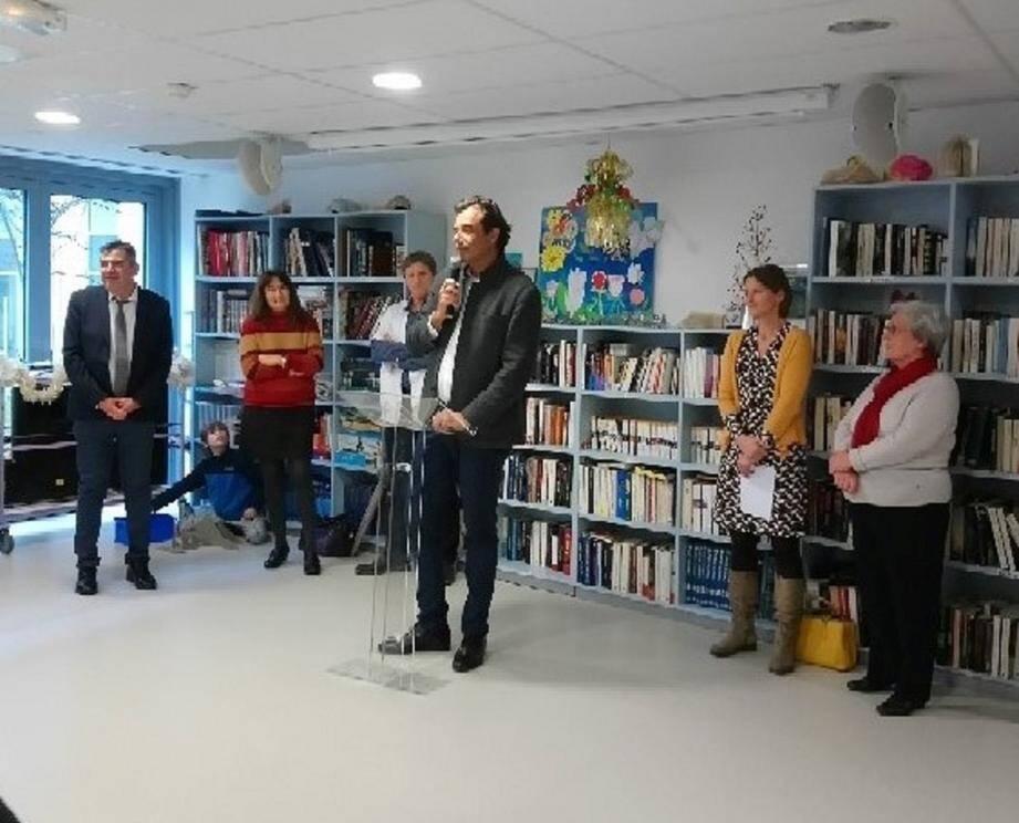 Le Doyen de la faculté de Médecine, Patrick Baqué, était présent à l'occasion de la présentation des vœux de l'hôpital de Sospel. (DR)