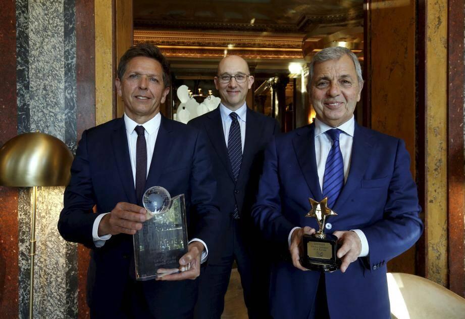 Autour de Pascal Camia, directeur des jeux de la Société des Bains de Mer, Boris Donskoff, directeur du Casino de Monte-Carlo et Rudy Tarditi, directeur du Casino.