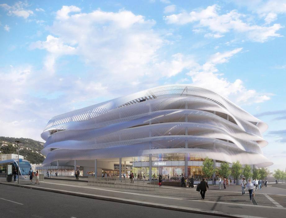 Le nouveau bâtiment avec ses lignes courbes semble flotter. (Studio Benaim-Nivaggioni)