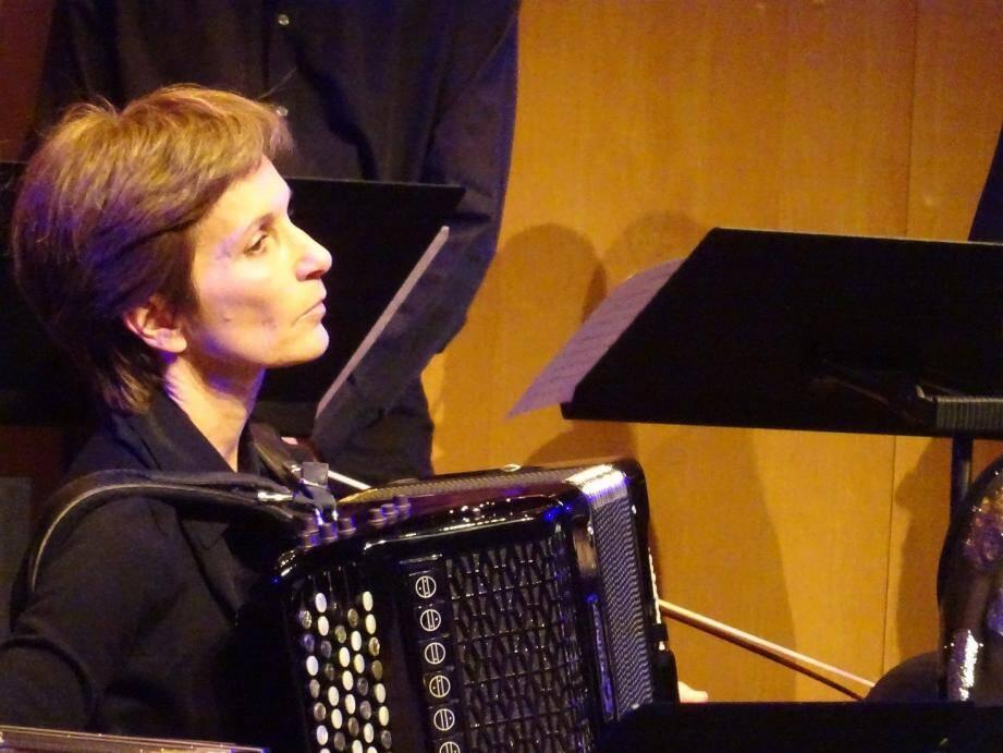 Christiane Bonnay est aussi présidente de l'Association pour la promotion de l'accordéon.(DR)