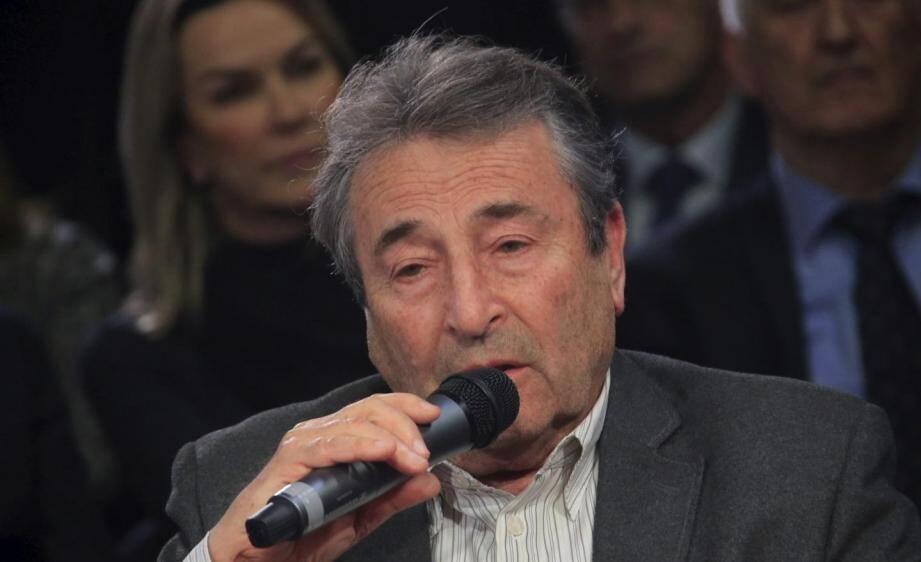 Christian Razeau lors du débat organisé par Nice-Matin le 17 février.