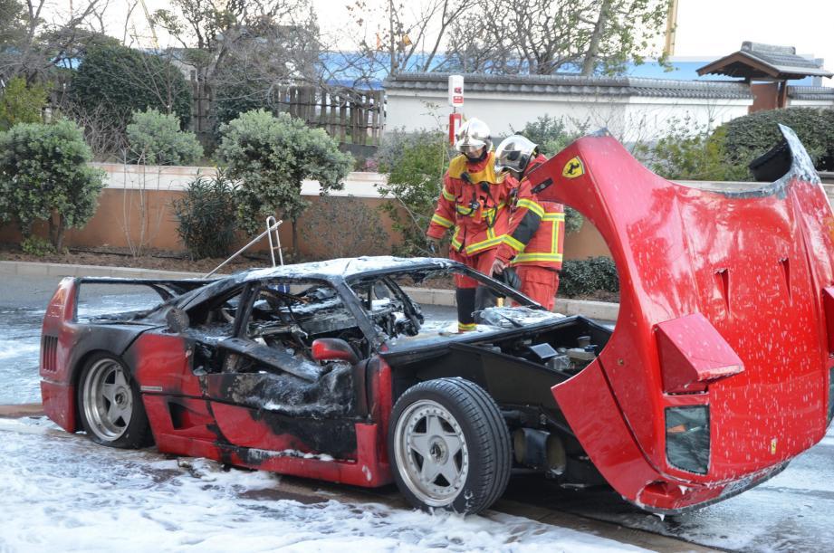 Les sapeurs-pompiers de Monaco ont rapidement circonscrit les flammes.