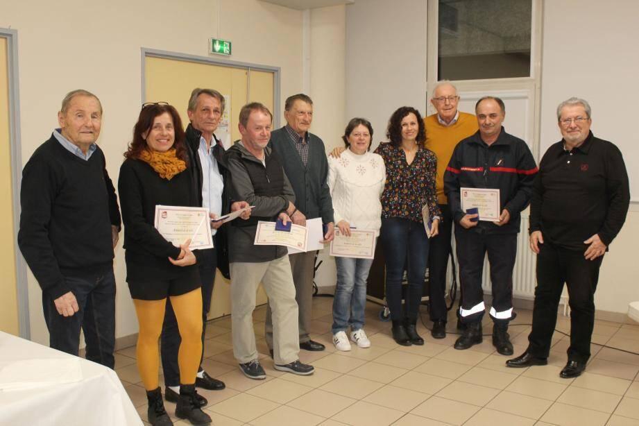 Pierre Barale, Dany Roll, Philippe Nardi, Patricia Hotzinger, Véronique Pastoret, Chrystele Baudchon, Gilbert Baldicchi ont reçu la médaille de la ville.