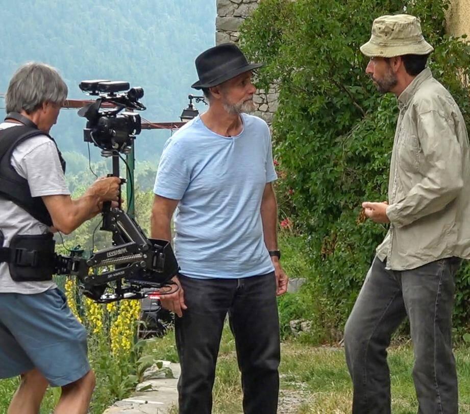 Tournage avec Xavier Borriglione et Yves Salomone. À droite, le réalisateur Christian Rasquier, avec Jean-Christophe Fossey.