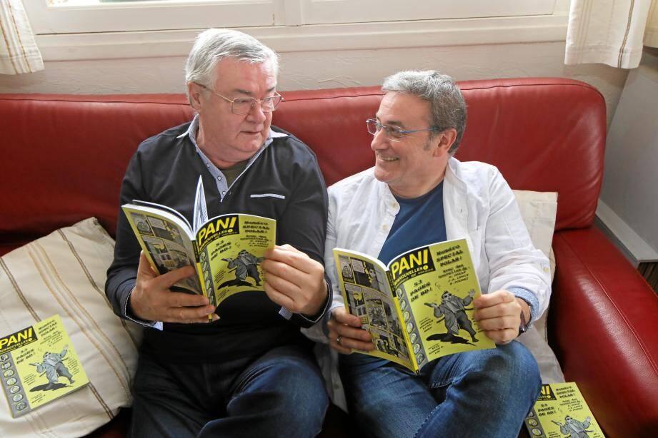 Franck Berthoux, retraité, Jean-Louis Aguila, dessinateur de BD, ont fondé la maison d'édition « Pourquoi viens-tu si tard ? » avec leur association, Les Activités artistiques.