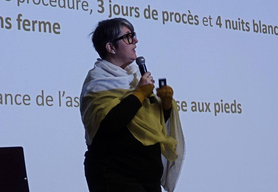 Lætitia Pachoud de l'association Colosse aux pieds d'argile.