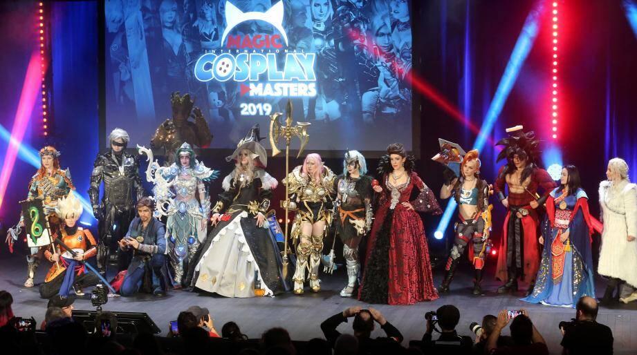 Les finalistes du concours de cosplay 2019 représentaient une belle palette des différents personnages possibles en la matière.