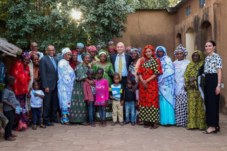 Cette visite de travail alternée de rencontres officielles et de visites de terrain, a permis de faire un tour d'horizon des différents partenariats menés avec les autorités maliennes.(DR )