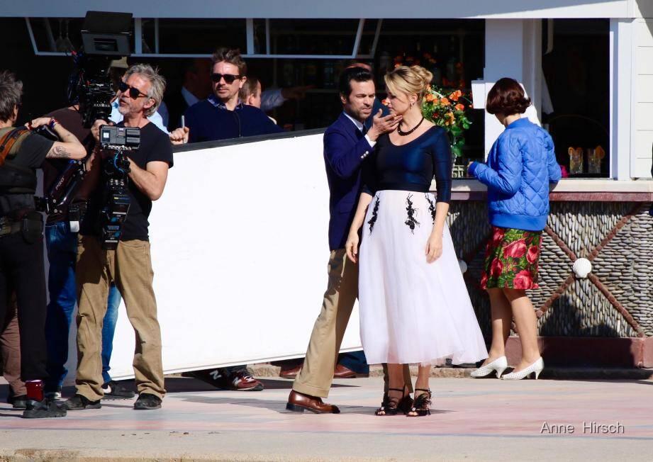 Une scène de danse clé pour le film a été capturée par la photographe depuis la mer.