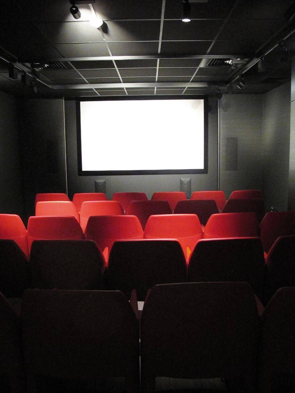 La salle de projection, comme un écrin privé, peut accueillir une trentaine de personnes pour des projections, mais aussi des expositions.