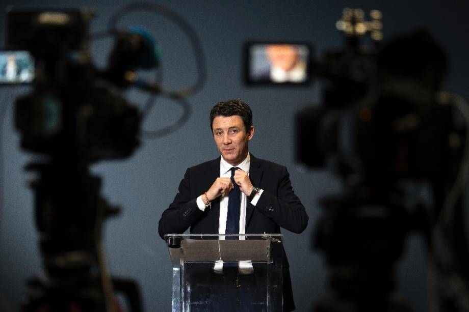 Benjamin Griveaux annonce son retrait de la campagne des municipales à Paris, le 14 février 2020