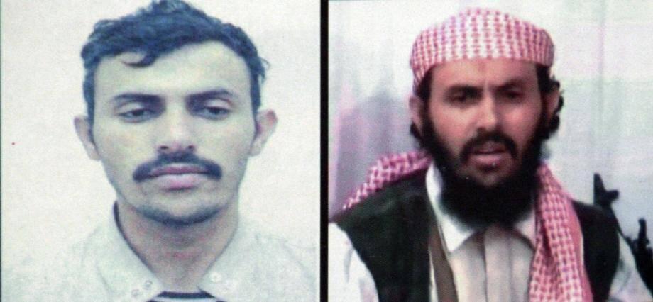 Montage photos non daté diffusé le 7 février 2020 par le ministère yéménite de l'Intérieur du Yéménite Qassem al-Rimi, chef du groupe Al-Qaïda dans la péninsule arabique (Aqpa)