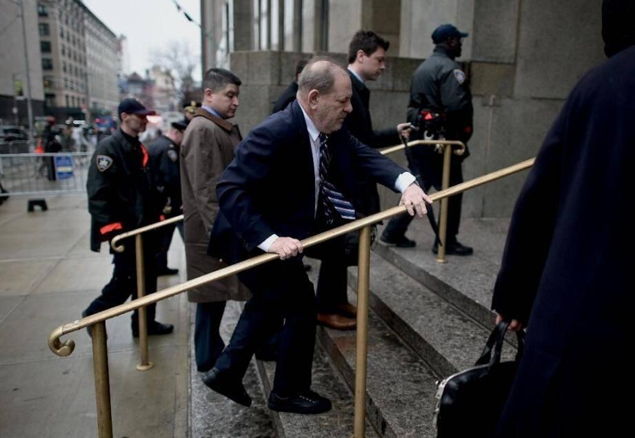 Harvey Weinstein à son arrivée au tribunal de Manhattan.