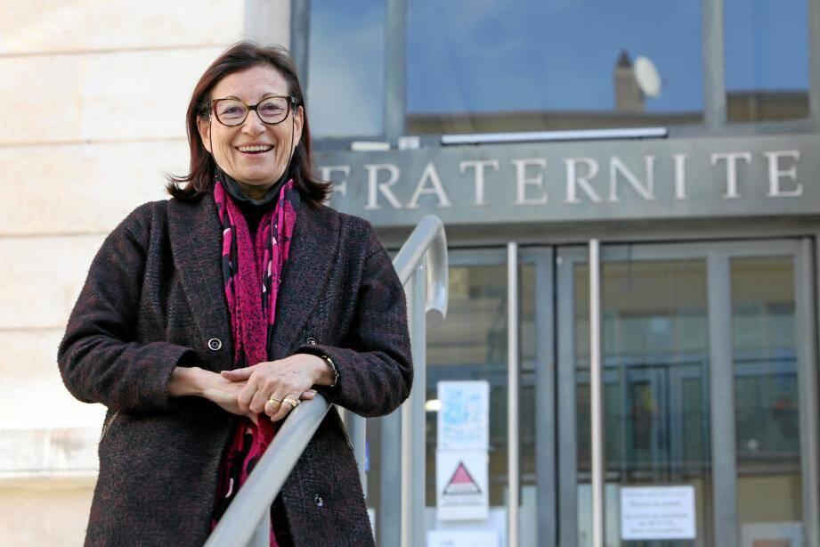 L'avocate Mireille Damiano, tête de la liste de gauche Viva!