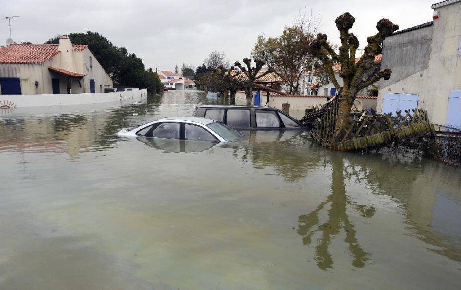 La Faute-sur-Mer sous les eaux après le passage de la tempête Xynthia le 1er mars 2010