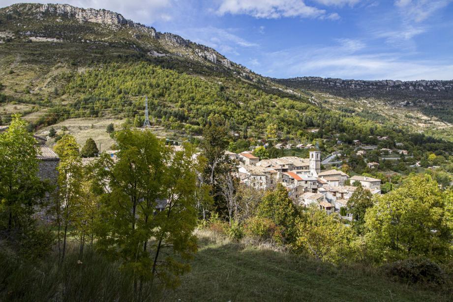 Une vue de Briançonnet.