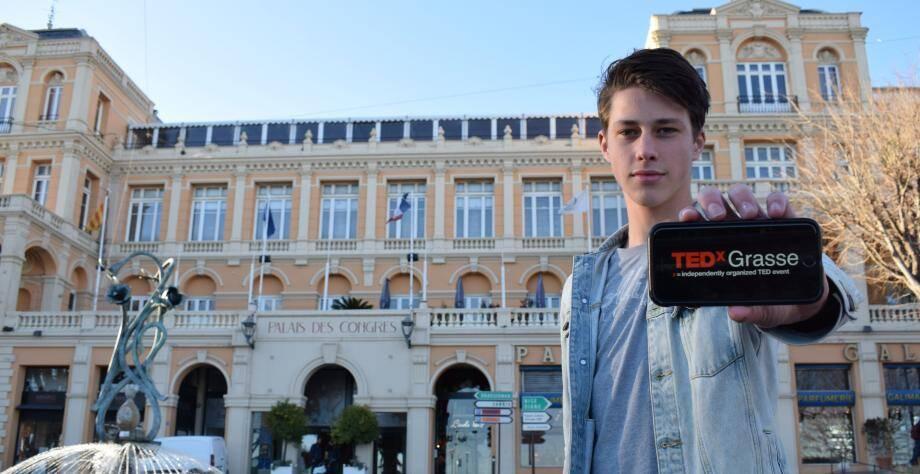 Aston (en photo) et ses compères Arthur et Max, sont à l'origine du TEDxGrasse qui se tiendra au palais des congrès de Grasse, le 22 février.