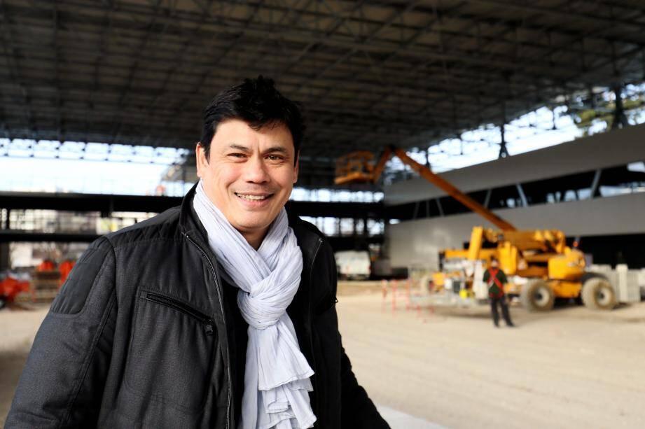 L'architecte Thierry Ami sur le chantier du futur centre d'entraînement du RCT.