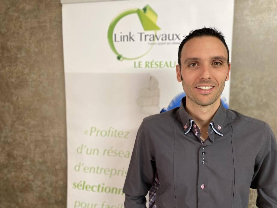 Yannick Pernet a fondé Link Travaux en 2013.