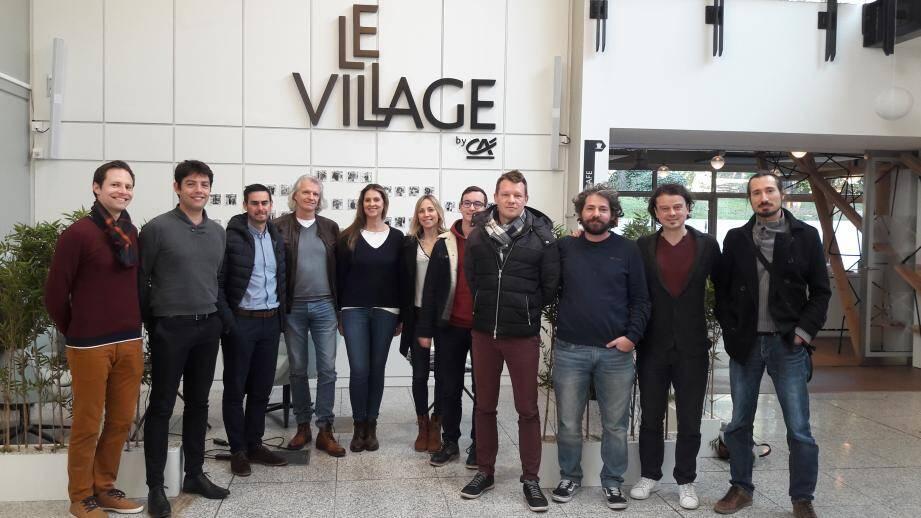 Les nouveaux dirigeants des start-up font leur entrée au Village by CA Sophia Antipolis.
