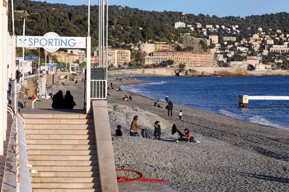 La plage du Sporting.