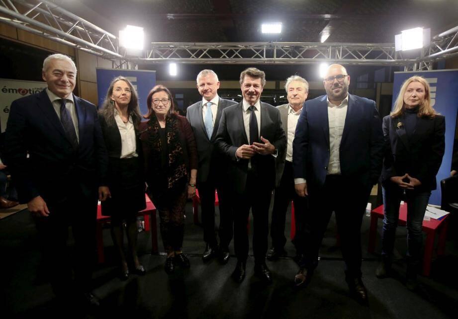 Les candidats aux élections municipales de Nice (Christian Razeau a rejoint ce lundi les écolos).