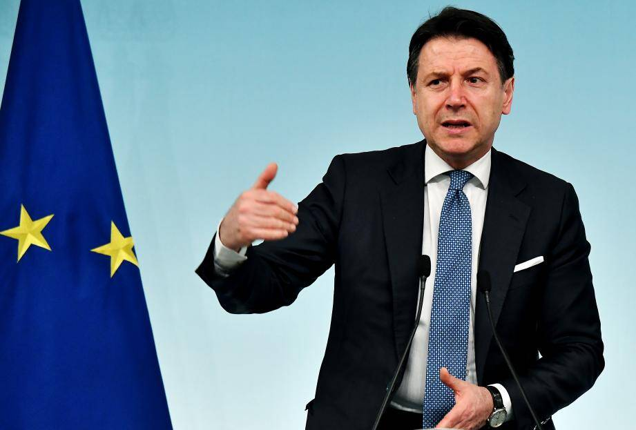 Le chef du gouvernement italien Giuseppe Conte.