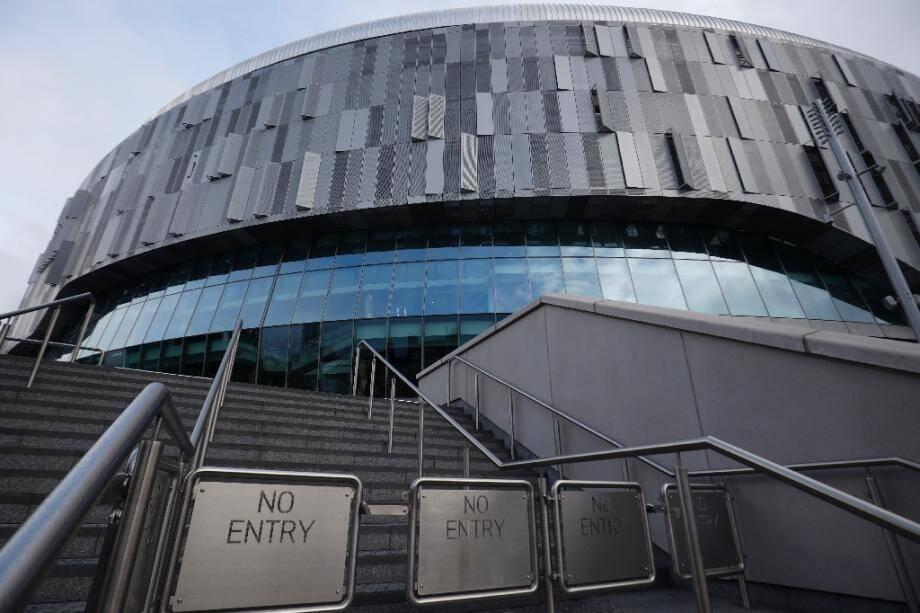Le stade de Tottenham à Londres le 15 mars, jour où les Spurs devaient affronter Manchester United avant la suspension de la Premier League