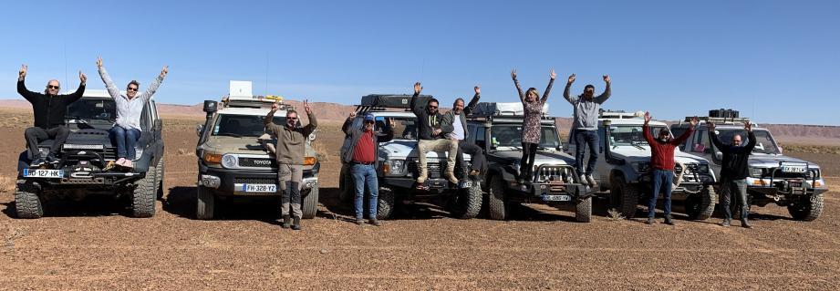 La dizaine de membres du club ramatuellois, à bord de six 4X4, est parti dix-sept jours au Maroc.