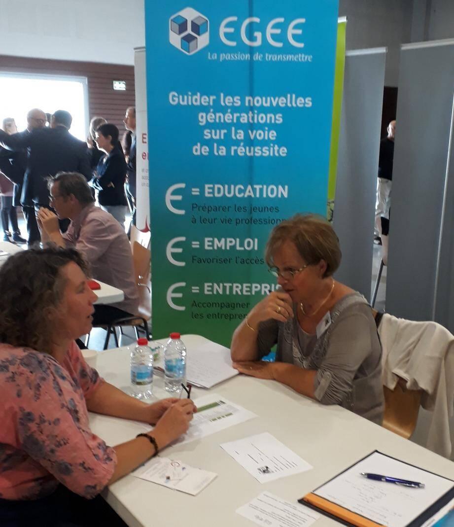Régulièrement présente sur les salons dédiés à l'emploi, l'association Égée organise pour la première fois son propre événement.(DR)