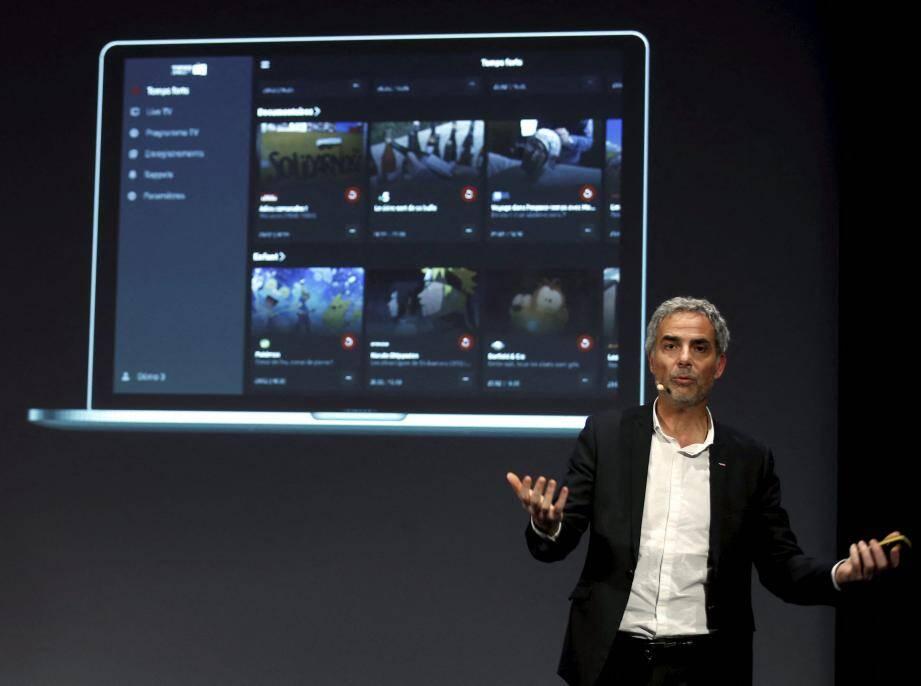 Martin Péronnet, le directeur général de Monaco Telecom, a présenté ce nouveau service TV.