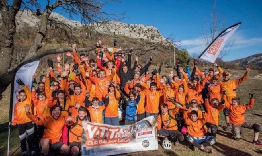 Les membres du club de VTT du Bar-sur-Loup, organisateur de la 4e manche du XMB Challenge.DR