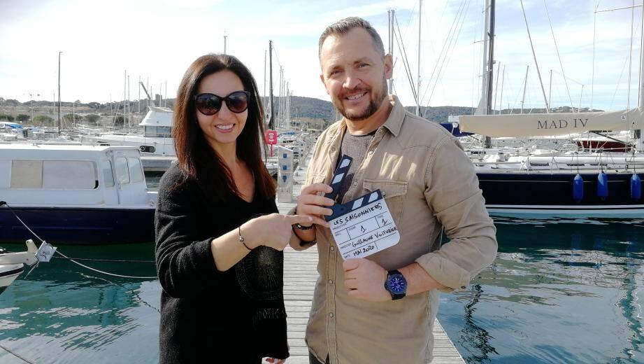 Vincent Voiturier et Mélanie D'Arco, prêts pour le tournage de leur première comédie.