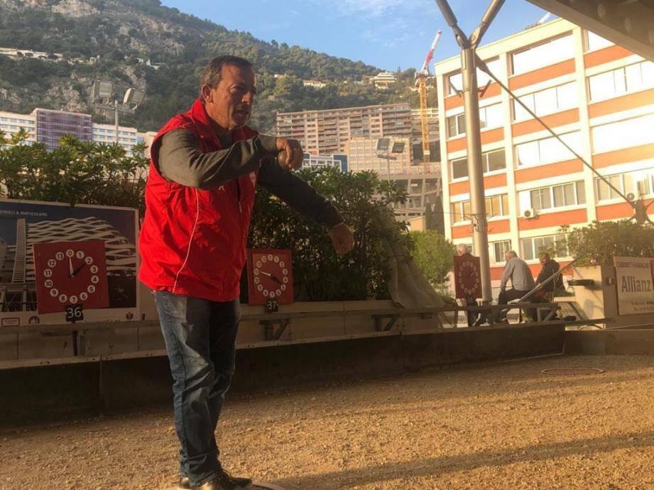 Denis Olmos dirigera les cours de pétanque au Club bouliste monégasque.(DR)