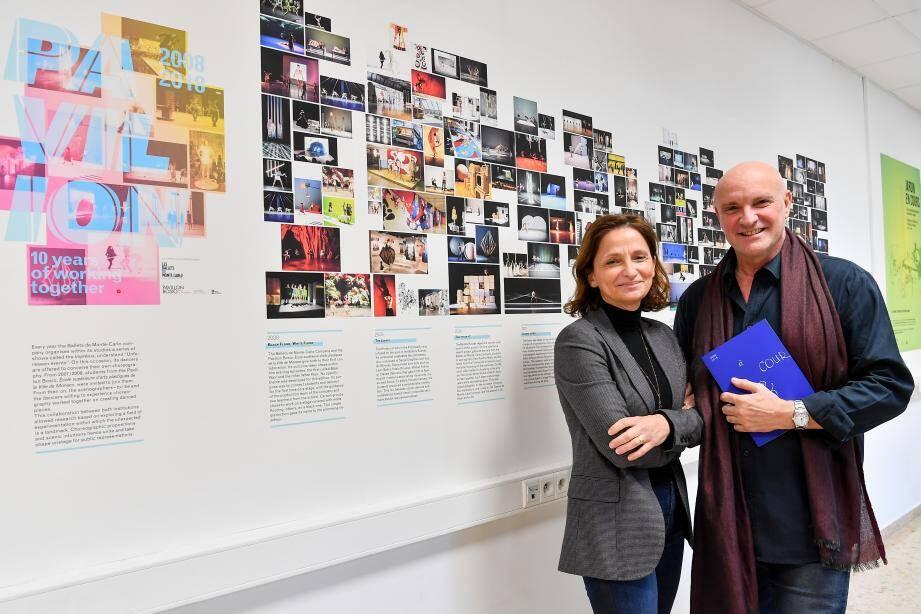 La directrice de l'École supérieure d'arts plastiques, Isabelle Lombardot, et le chorégraphe-directeur des Ballets, Jean-Christophe Maillot, ont retracé dans un livre les projets réalisés en une décennie entre les deux entités.