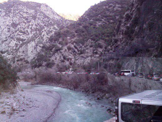 Les conducteurs ont été piégés route de la Tinée dès 6 h 30.(DR)