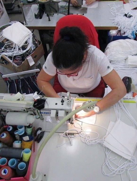 La filière textile de Fontvieille est sur le pont dans le respect des normes sanitaires actuelles.
