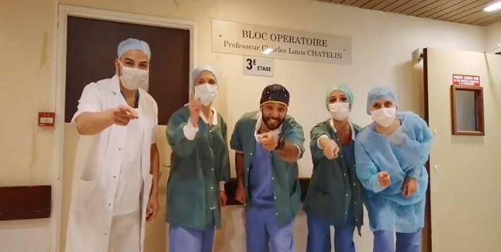 """Le personnel soignant de l'hôpital de Monaco se met en scène pour vous demander de """"Restez chez vous""""!"""