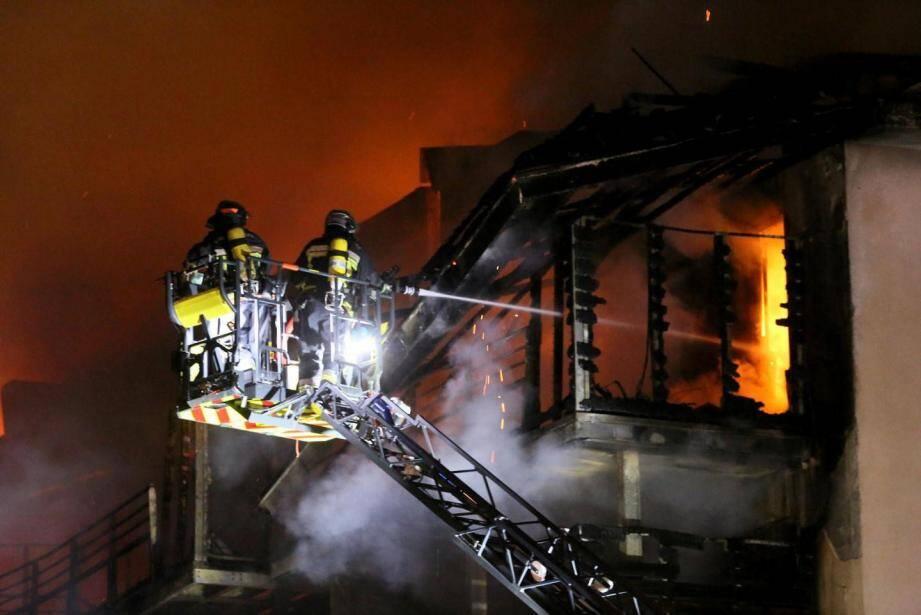 Incendie de l'immeuble Chabran à Draguignan.