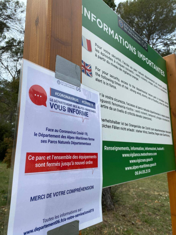 Les parcs départementaux sont fermés jusqu'à nouvel ordre.