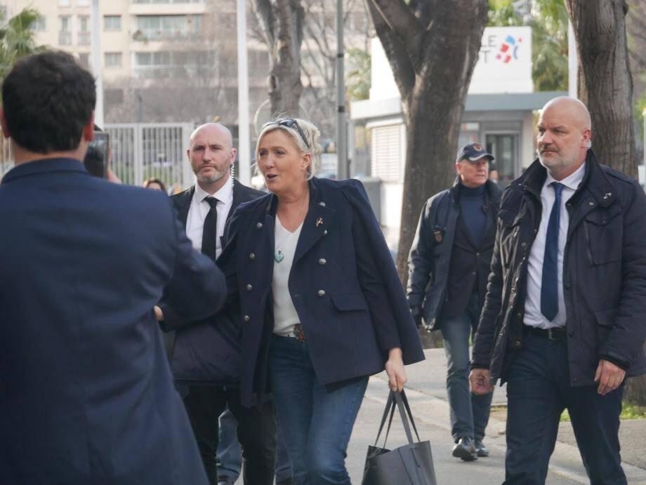 Marine Le Pen a soutenu ses candidats à Marseille.
