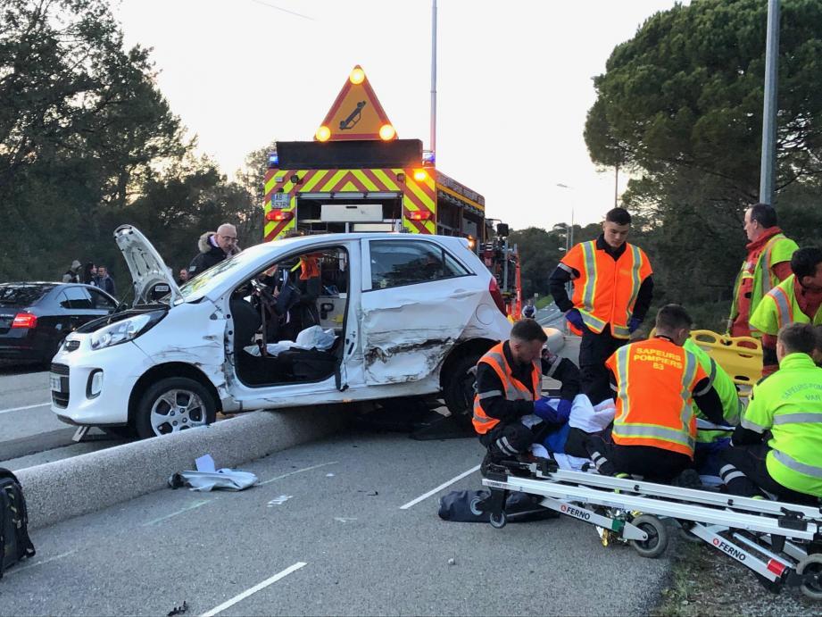 Ce vendredi soir, deux véhicules sont entrés en collision, boulevard de l'Aspé, à Saint-Raphaël.