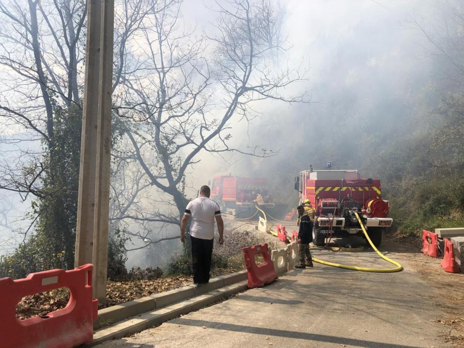 Particuliers et pompiers se sont rapidement mobilisés pour circonscrire le feu.