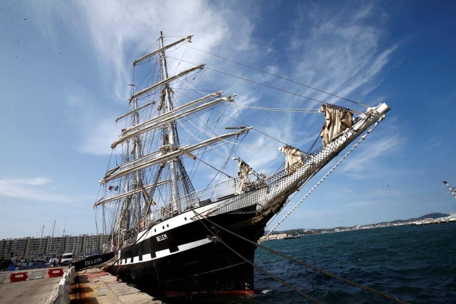 """Le trois-mats """"Belem"""" fera escale dans le port de Toulon en 2020."""