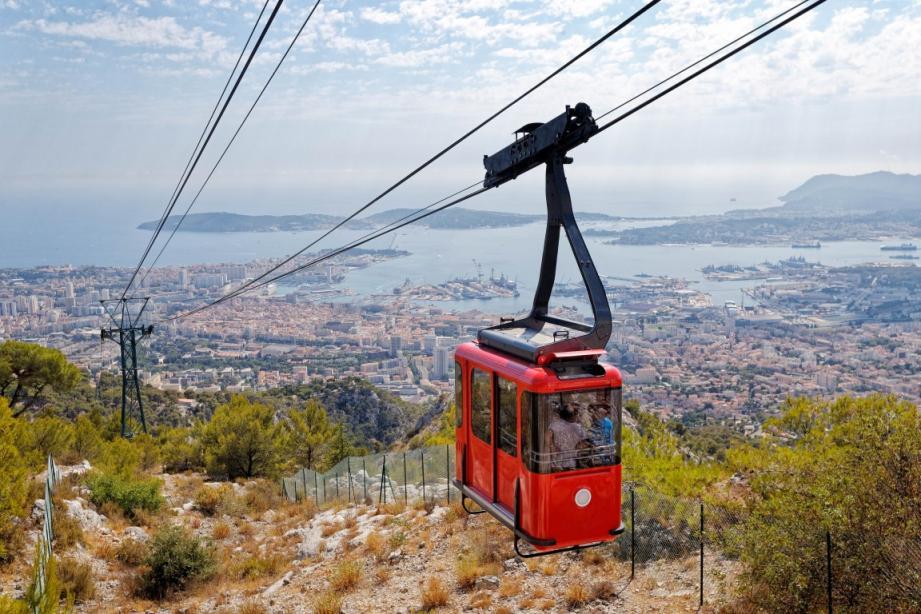 Le téléphérique permettant d'accéder au sommet du mont Faron est fermé ce vendredi 6 mars.